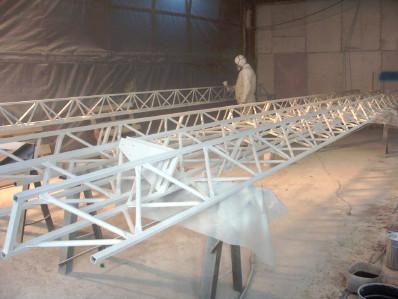 Окраска металлоконструкций установок освещения для стадиона г.Химки