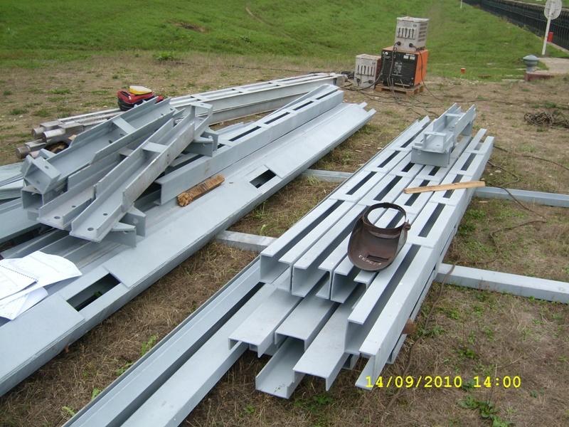 Нанесение металлизационного цинкового покрытия на конструкции ферм ПОАРЭ для гидроузла в Рязанской области.