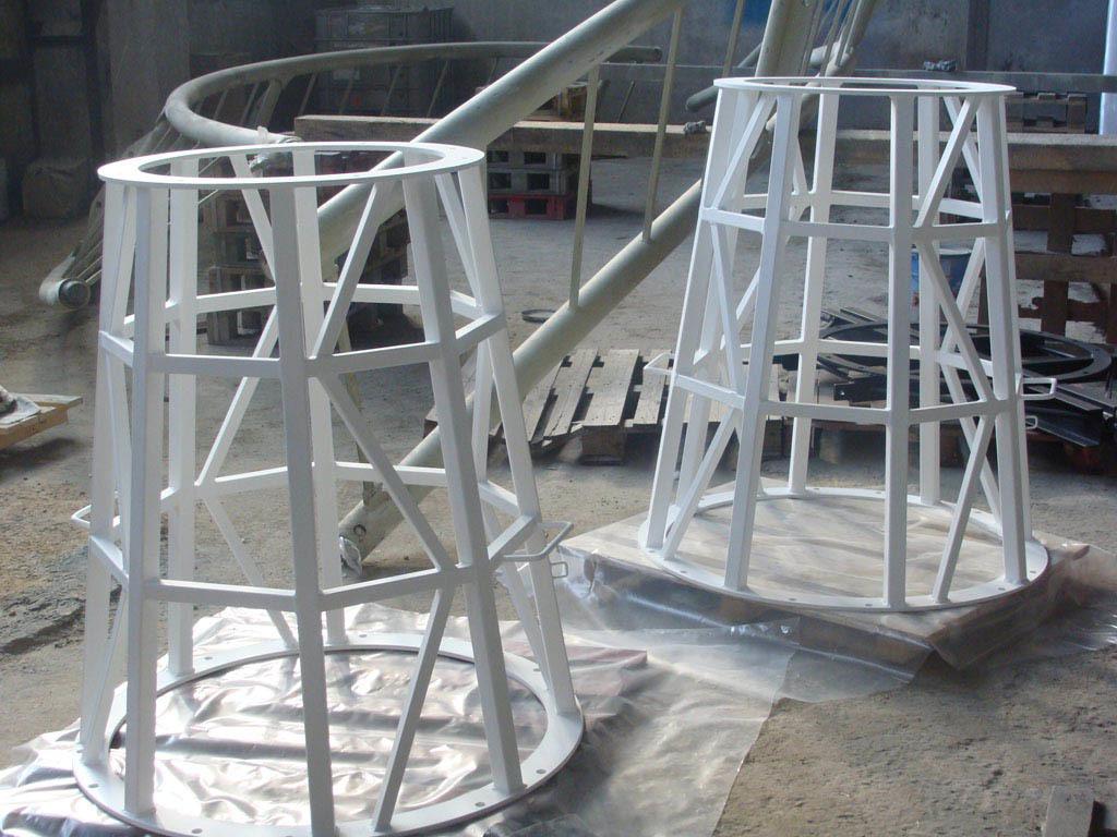 Нанесение металлизационного цинкового покрытия с последующей окраской на установки освещения для стадиона г.Химки