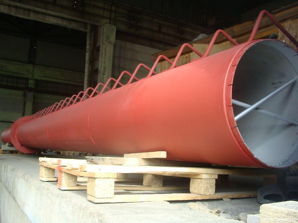 Металлизация алюминием металлической дымовой трубы